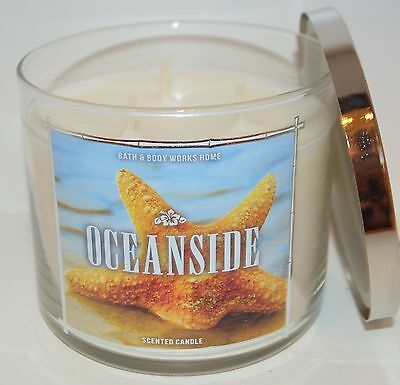 New Bath & Body Works Oceanside Scented Candle 3 Wick 14.5 Oz Large Citrus Melon