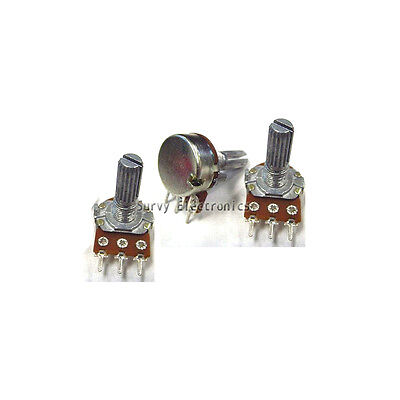 5 pcs 10K ohm Linear Taper Rotary Potentiometer Panel pot B10K New