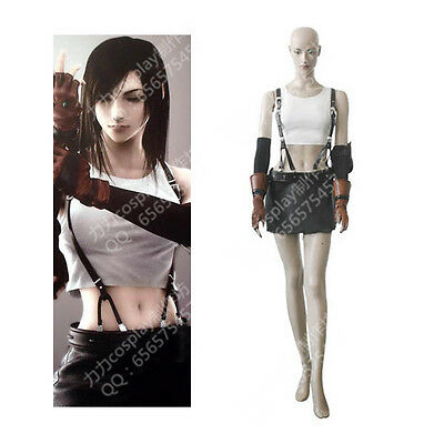 Japanese Game Final Fantasy VII Tifa.Lockhart Cosplay Costume Custom Size All