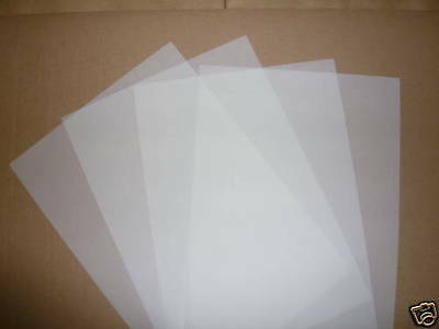 25 SHEETS A4 TRANSLUCENT TRACING PAPER / VELLUM 110gsm CRAFT