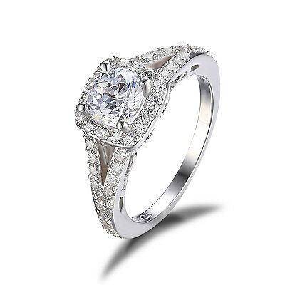 JewelryPalace 1.4ct AAA Cubic Zirconia Engagement Ring 925 Sterling Silver