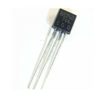 5Pcs BS250 P Channel MosFET TO-92 New