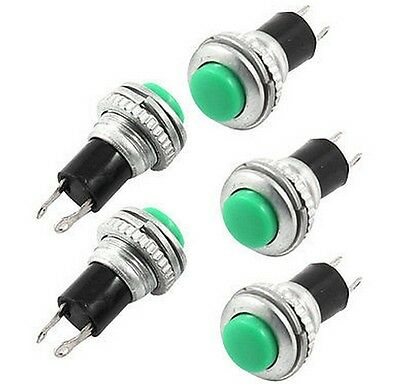 10PCS Green SPST Non Locking Push Button Switch DS-316 AC 250V 3A