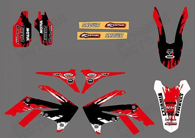 Team Graphics Decals For Honda Crf250R Crf250 2010 11 12 13 Crf450 450R 09-13