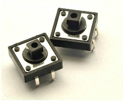 50PCS TC-1212T 12x12x7.3 mm Tact Tactile Push Button Momentary SMD PCB Switch