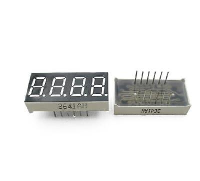 2pcs 0.36 inch 4 digit led display 7 seg segment Common cathode Red NEW