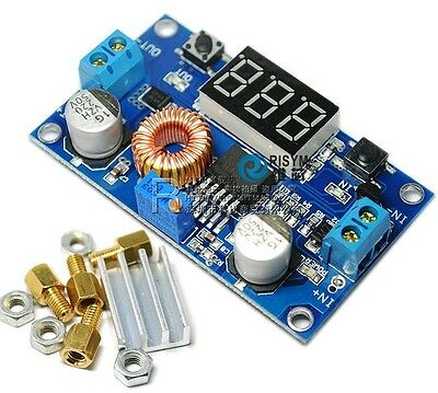 Gumps grocery 5A Adjustable Power CC//CV Step-Down Charge Module LED Driver with Red Voltmeter