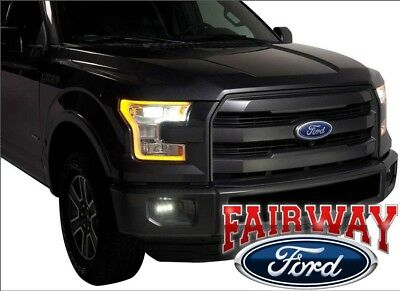 15 thru 17 F-150 OEM Genuine Ford Parts Replacement LED Fog Lamp Kit COMPLETE
