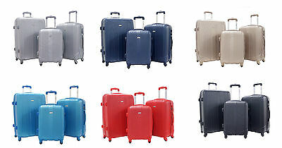 ALISTAIR - Suitcase trolley set of 3 with lightweight ABS hard-shell - 4 wheels