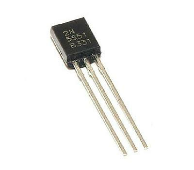 50pcs 2N5551 Transistor NPN 160 Volts 600 mA TO-92 Package