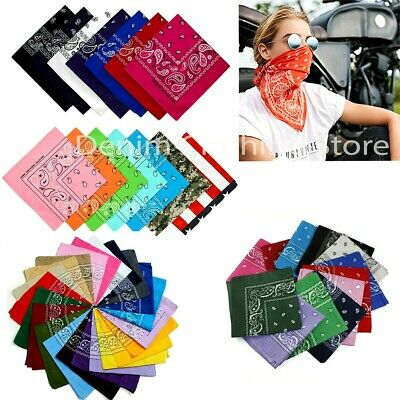 Wholesale Lot 100% Cotton Paisley Print Bandanas Head Wrap Scarf Wristband Dozen