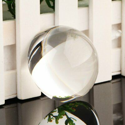 Vintage 60mm Clear Crystal Half Sphere Ball Paperweight MAGNIFYING XMAS Gift