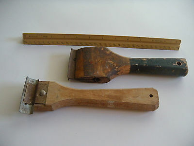 Vintage old hand tools, 2 paint scrappers    great addition to your collection