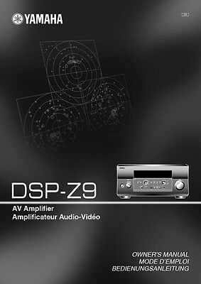 Yamaha DSP-Z9 Amplifier Owners Manual