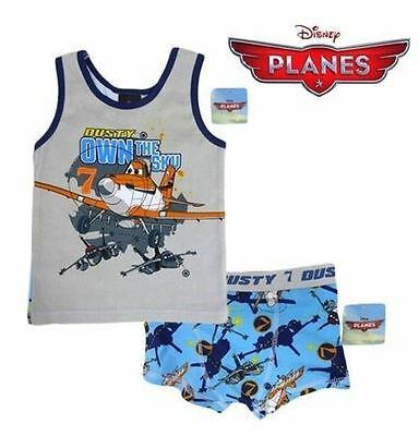 LICENSED - 2pc Singlet and underwear/Pyjama set -COTTON/ELASTANE - DISNEY PLANES