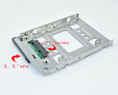 """hp 654540-001 SAS/SATA/SSD 2.5"""" to 3.5""""  Drive Adapter FOR 651314-001 F238F tray"""