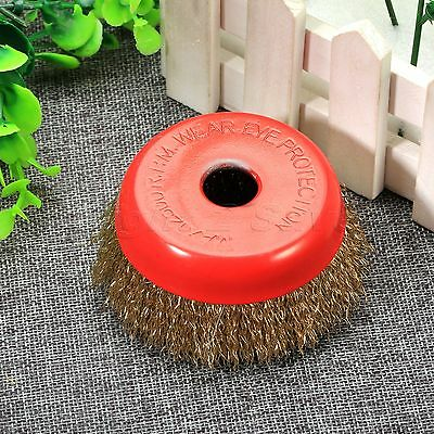 85mm Dia Abrasive Crimped Steel Wire Grinding Polishing Wheel Brushes 16mm Hole