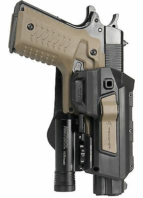 Recover Tactical 1911 Level 1 Holster for the CC3H Rail System TAN BUTTON HC11 T