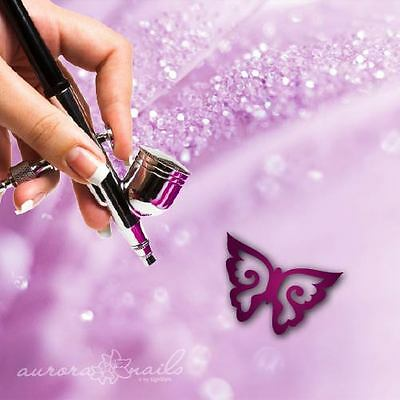 Airbrush sticky Stencils - S040 - Nailart - Butterfly Butterfly Wings 80 St