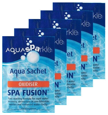 5 x Aquasparkle Spa Fusion Shock Treatment Hot Tub Pool Tubs Spas Oxidiser Lite