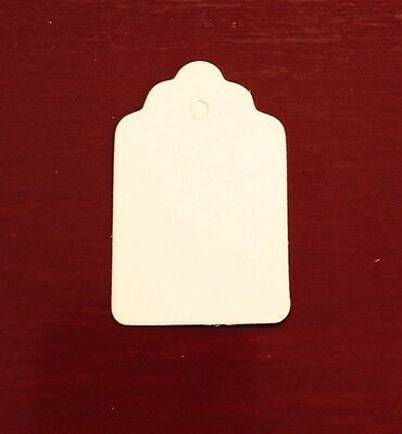 1000 WHITE Medium Merchandise Clothes Price Tags BLANK Great Quality