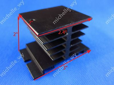 New Aluminum Heat Sink For Solid State Relay SSR  Type Heat Dissipation Black