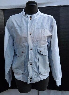 Vtg 1970-1980s GENERATION ONE Old School LIGHT JEAN Cotton Jacket Womans SMALL