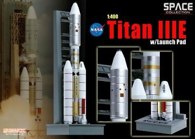 56343 Dragon Diecast Model Space Collection Titan IIIE W/Launch Pad 1:400 Scale