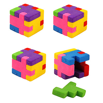 Party Bag Fillers Puzzle Cube Eraser 1-50 Childrens Boys Girls Toy Gift Prizes