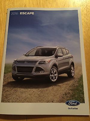 2016 Ford Escape 32-page Original Sales Brochure