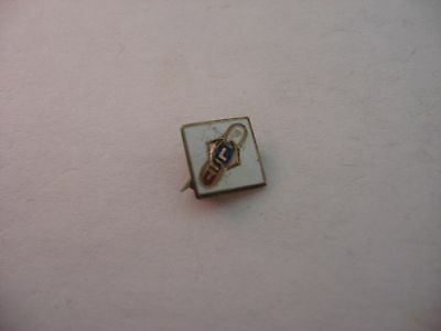 Small Antique Vintage Oddfellows Fraternal FLT Enamel Pin Jewelry