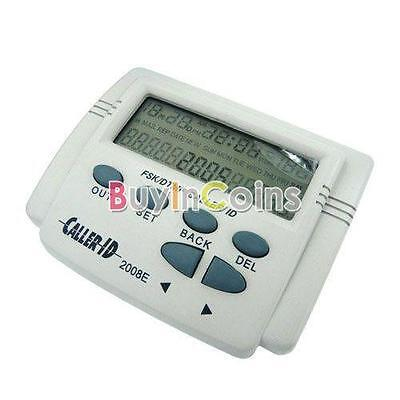FSK/DTMF Caller ID Box + Cable Mobile Phone LCD Display White