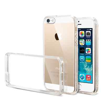 iPhone 5 5S SE Transparent Case Clear Soft Extra Thin Flexible TPU Cover