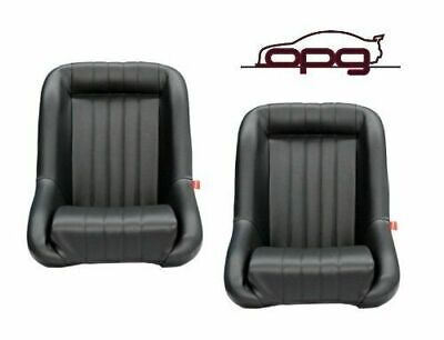 Low Back Pu Leather Bucket Seats Car Fixed Back Black For Holden Lc Lj Torana 2