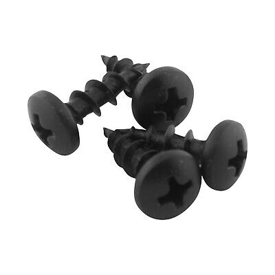 "100 Pack #10 x 5/8"" Coarse Deep Thread Pan Head Screws Black Phosphate Wood MDF"