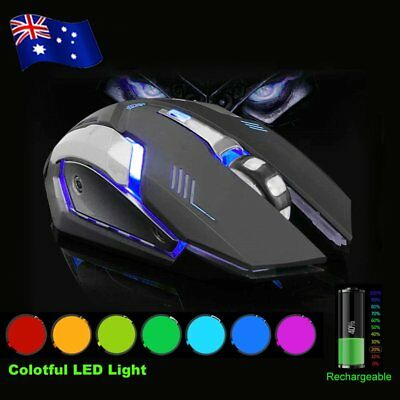 2.4 GHz Wireless Optical Mouse Mice + USB 2.0 Receiver for PC Laptop Black GT