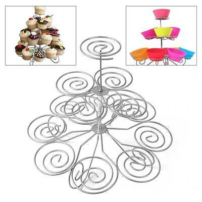 3 Tier 13 Cupcake Dessert Metal Stand Tower For Wedding Birthday Party Display