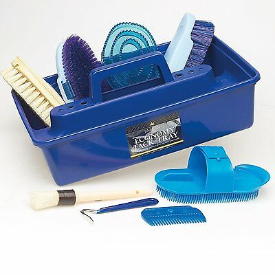 Lincoln Complete Grooming Kit Tack Tray & Brushes Ideal Gift for Horses