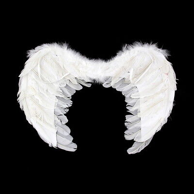 New Feather Fairy Angel Wings Party Fancy Dress Costume Accessory 45*35cm GT