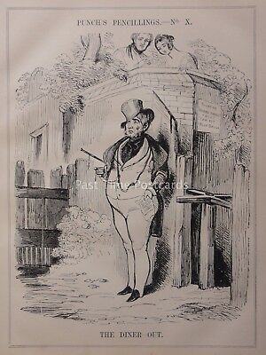 c1841 THE DINER-OUT - HER MAJESTY COMMAND TO DINNER Political Satire & Cartoons