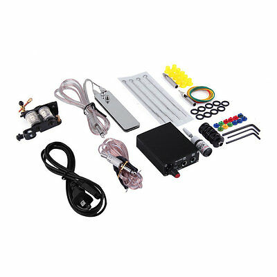 Complete Tattoo Kit Set Equipment Machine Needles Power Supply Gun Inks GT