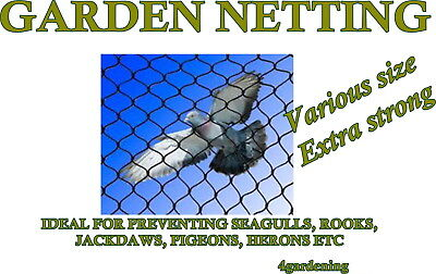 Garden Netting Bird Protection Agricultural Not Plastic Made in EU Various Sizes