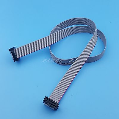 50cm 2x5 10Pin IDC Flat Ribbon DATA Cable 2.54mm Pitch AVR ISP JTAG  Wire