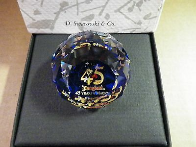 SWAROVSKI ARRIBAS CRYSTAL PAPERWEIGHT 45TH DISNEYLAND ANNIVERSARY MICKEY BOX 6oz