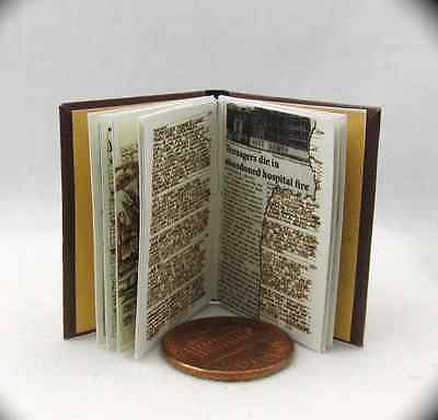 JOHN WINCHESTER'S JOURNAL Replica Miniature Book Readable Illustrated Book 1:6