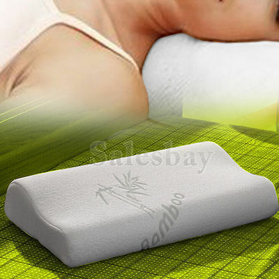Luxury Bamboo Pillow Memory Foam Fabric Fibre with Cover Anti-bacterial 40x60cm