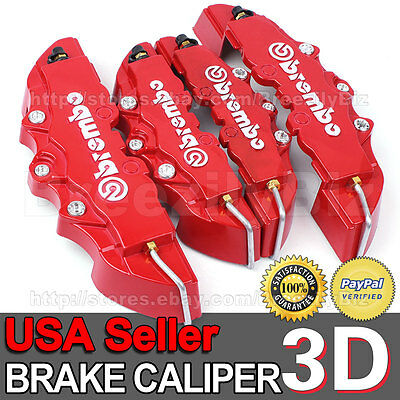 Big 3D Brake Caliper Cover Brembo Style Front Rear Ford Universal Disc Kits BB16