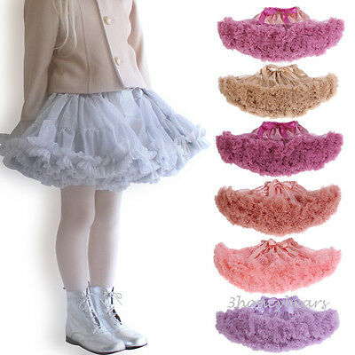 Sparkle Shimmer Tulle Girls Ballerina Petticoat Layers TUTU RARA Skirt 8 Colours