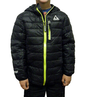 Gerry Boys Sweater Down Jacket with Packable Pillow Bag Black