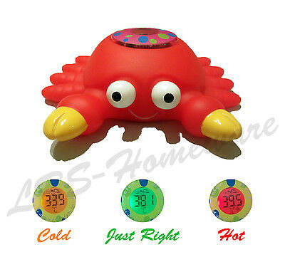 Baby Bath Thermometer Crab Digital Floating Toy Safety Temperature Gauge *new*